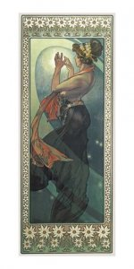 Pohled Alfons Mucha – Pole Star, dlouhý