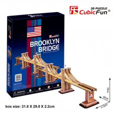 Puzzle 3D Brooklin Bridge - 64 dílků