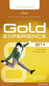 Gold Experience B1 Stud.'s eText Access Card