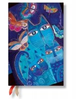 Paperblanks 2016 Blue Cats and Butterflies Mini 18 Horizontal Diary