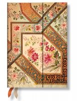 Paperblanks 2016 Filigree Floral Ivory Midi 12 Vertical Diary