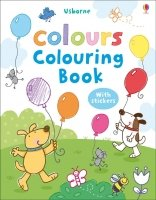 MY FIRST COLOURS COLOURING BOOK WITH STICKERS