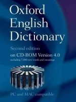 OXFORD ENGLISH DICTIONARY Second Edition on CD-ROM Version 4.0