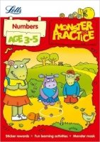 Numbers Age 3-5 (Letts Monster Practice)