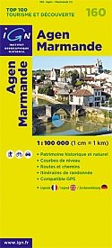 IGN 160: Agen Marmande 1:100 000