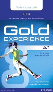 Gold Experience A1 eText Student Access Card