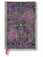 Paperblanks Silver Filigree Aubergine Mini Unlined