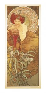 Pohled Alfons Mucha – Emerald, dlouhý