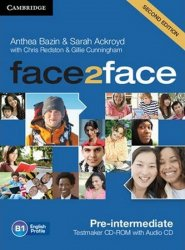 Face2face Pre-intermediate Testmaker CD-ROM and Audio CD - Anthea Bazin