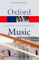 OXFORD CONCISE DICTIONARY OF MUSIC 5th Edition (Oxford Paperback Reference)