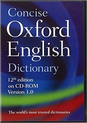 CONCISE OXFORD ENGLISH DICTIONARY 12th Edition on CD-ROM Version 1.0