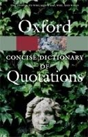 OXFORD CONCISE DICTIONARY OF QUOTATIONS 4th Edition (Oxford Paperback Reference)