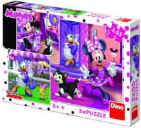 Minnie - Den s Minnie:  puzzle 3x55 dílků