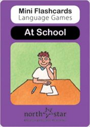 MINI FLASHCARDS LANGUAGE GAMES: CARDS At School