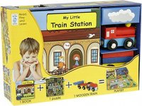 My Little Book about Trains (Book, Wooden Toy & 16-piece Puzzle) - neuveden