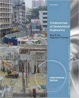 Fundamentals of Geotechnical Engineering, 5th Inter. Ed.