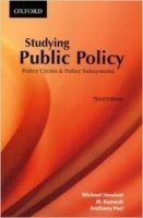 Studying Public Policy : Policy Cycles and Policy Subsystems 3rd Ed.