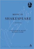 Music in Shakespeare: A Dictionary