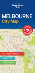 Lonely Planet Melbourne City Map 1.