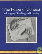 POWER OF CONTEXT IN LANGUAGE TEACHING AND LEARNING - FRODESE...