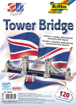 3D model Tower Bridge - 120 dílů