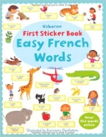 Easy French Words (Usborne First Sticker Books) - Brooks, F.