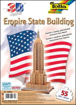 3D model Empire State Building - 55 dílů