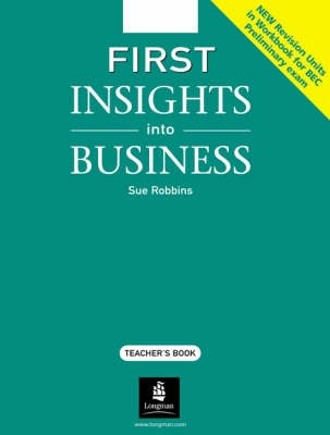 First Insights into Business Teachers Book - S. Robbins