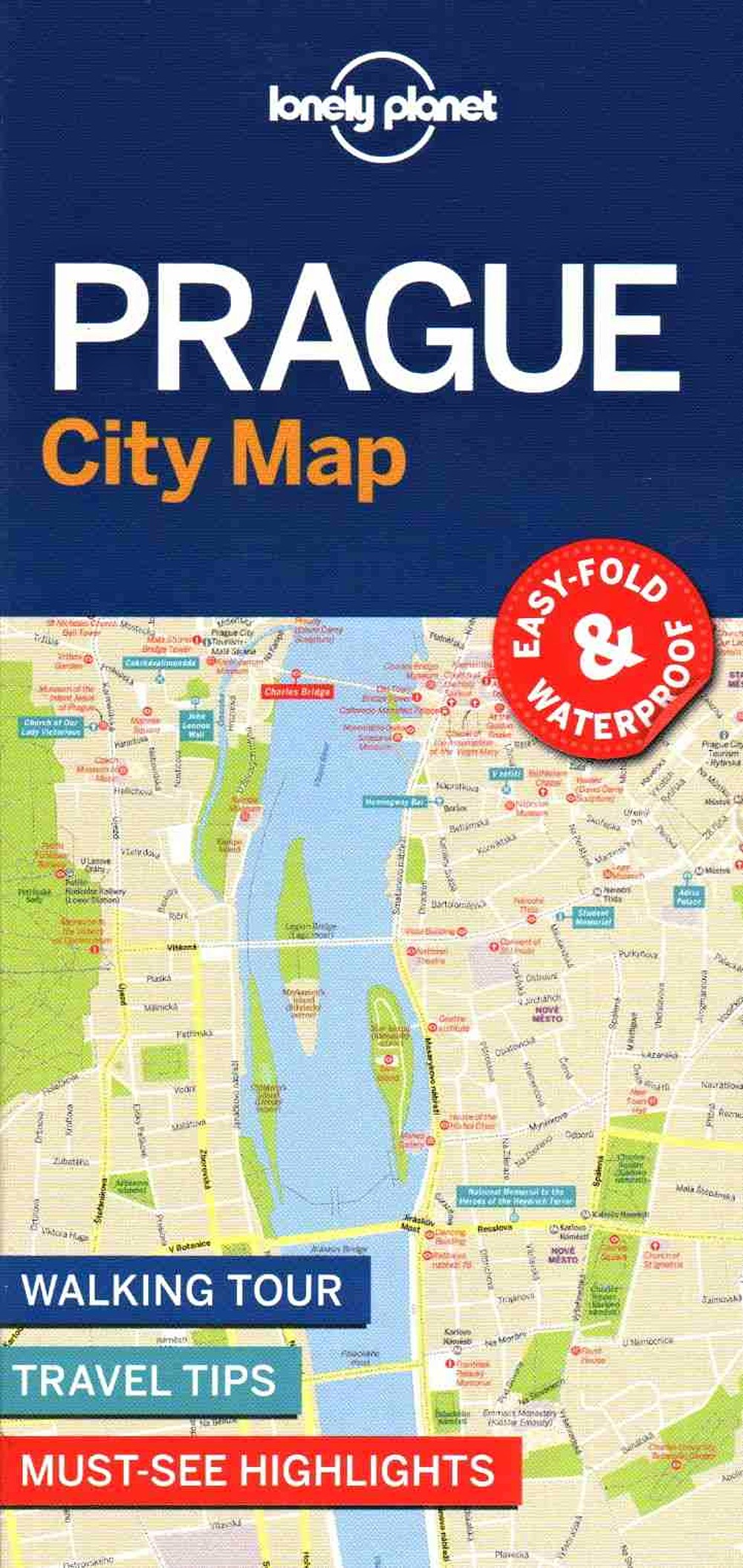 Lonely Planet Prague City Map 1.