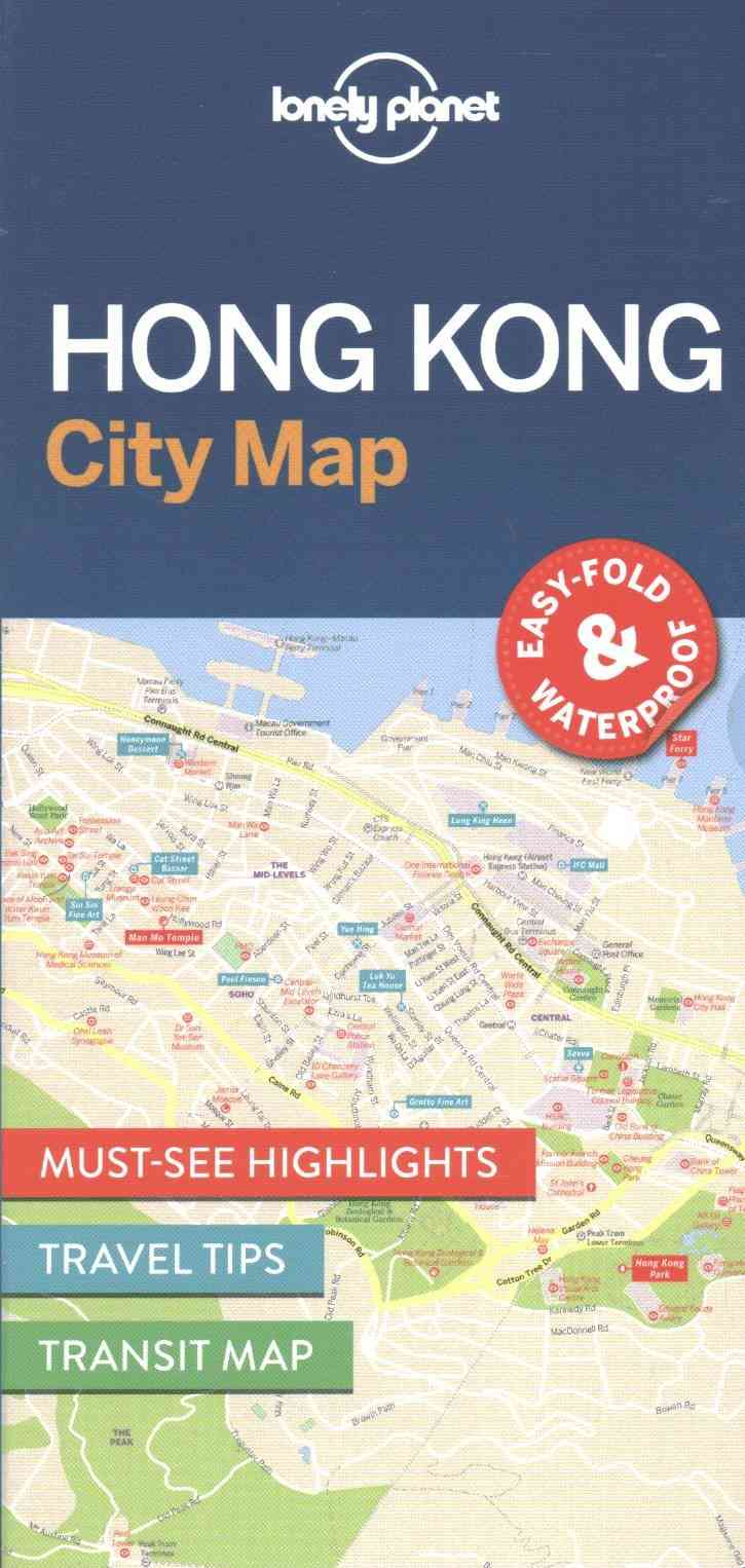 Lonely Planet Hong Kong City Map 1.