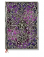 Paperblanks Silver Filigree Aubergine Grande Unlined