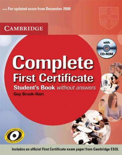 Complete First Certificate SB Pack (SB with answers & CD-ROM, Class Audio CDs (2))