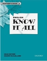 ENGLISH KNOW IT ALL 1 TEACHER´S BOOK - MCCLELLAND, S., SNYDE...