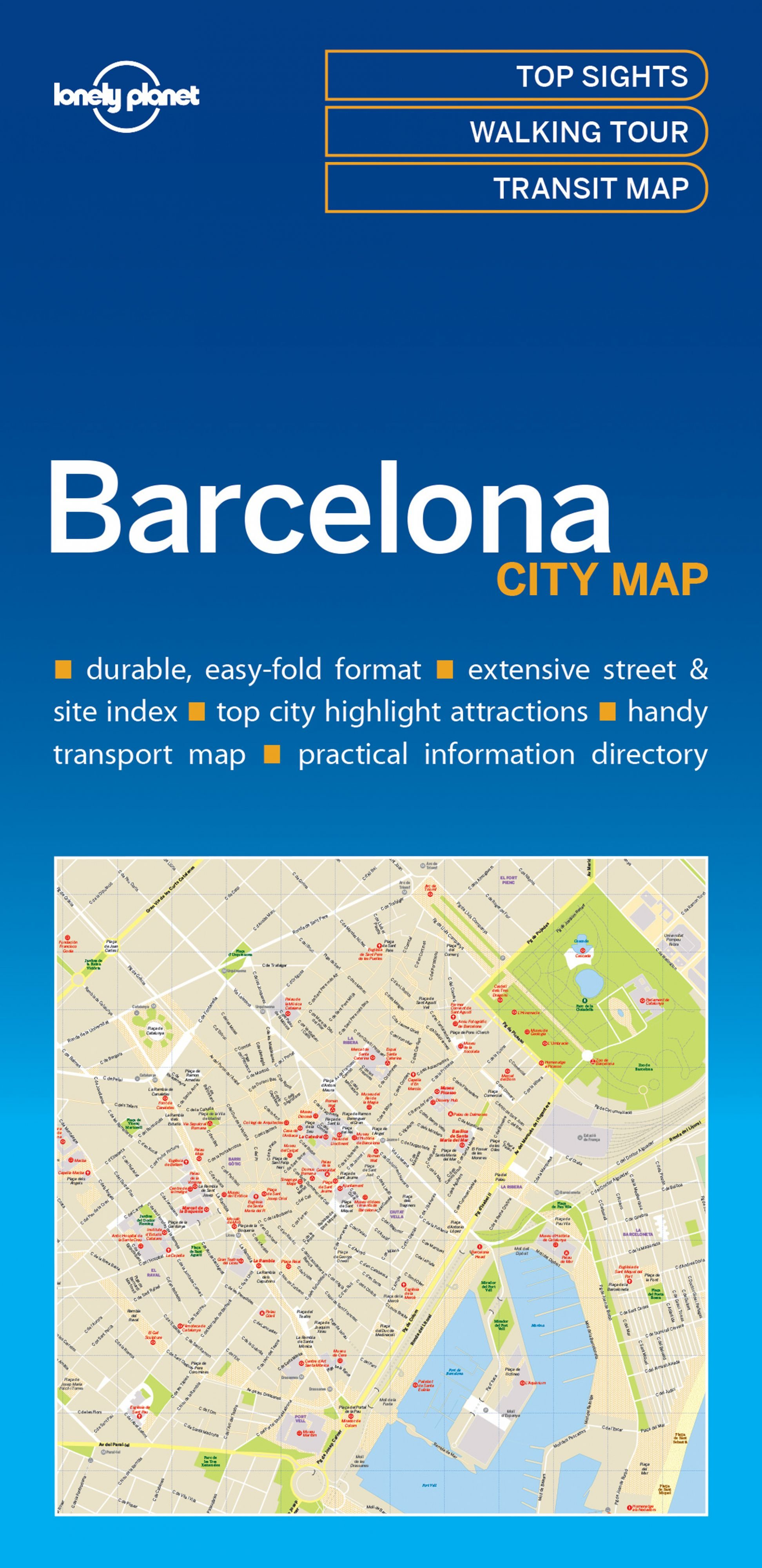 Lonely Planet Barcelona City Map 1.