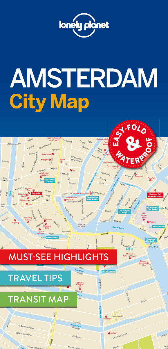 Lonely Planet Amsterdam City Map 1.
