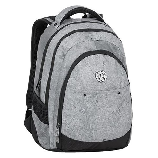 Bagmaster Studentský batoh DIGITAL 9 E GRAY/BLACK