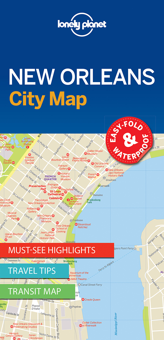 Lonely Planet New Orleans City Map 1.