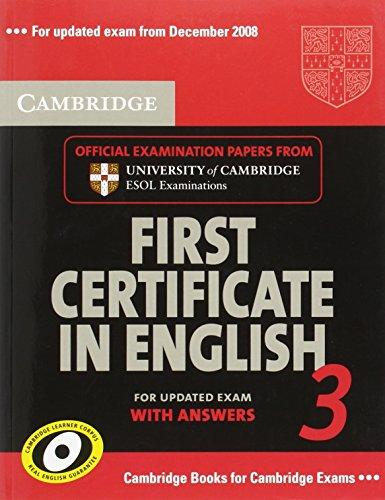 Cambridge FCE 3 for updated exam Student's Book with answers - Corporate Author Cambridge ESOL