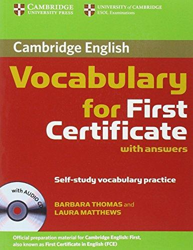 Cambridge vocabulary for first certificate, with answers : self-study vocabulary practice - Náhled učebnice