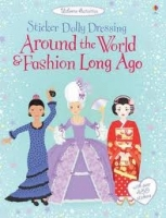 AROUND THE WORLD AND FASHION LONG AGO USBORNE STICKER DOLLY ...