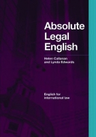 ABSOLUTE LEGAL ENGLISH BOOK + AUDIO CD - CALLANAN, H., EDWAR...
