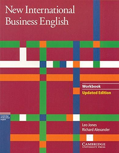 New International Business English Workbook - Jones, Leo