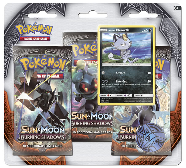 Pokémon: SM3 Burning Shadows 3 Blister Booster