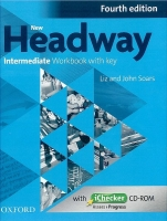 NEW HEADWAY FOURTH EDITION INTERMEDIATE WORKBOOK with KEY an...