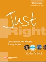 JUST RIGHT ELEMENTARY STUDENT´S BOOK + CD - HARMER, J.