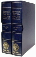 SHORTER OXFORD ENGLISH DICTIONARY 6th Edition /Leather Bound...