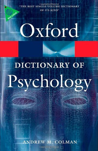 OXFORD DICTIONARY OF PSYCHOLOGY 3rd Edition (Oxford Paperbac...