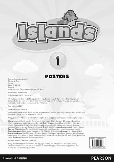 Islands Level 1 Posters for Pack