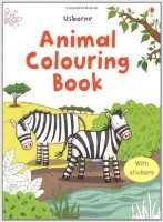 Animal Colouring Book with Stickers