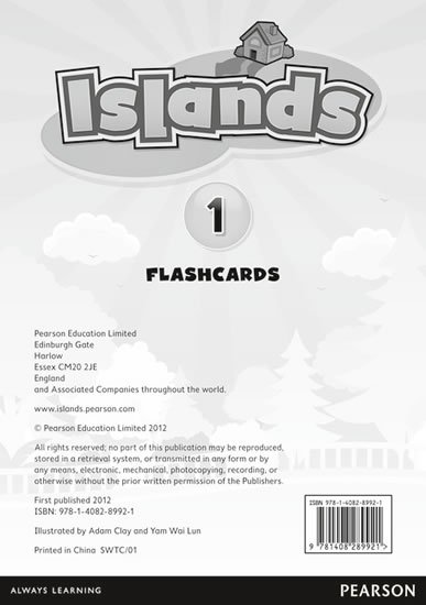 Islands Level 1 Flashcards for Pack
